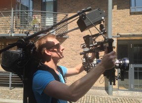 Movi Stabiliser Bungee Backpack support for shooting all day